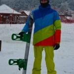 Pierwszy snowboarder - przybył przed czasem