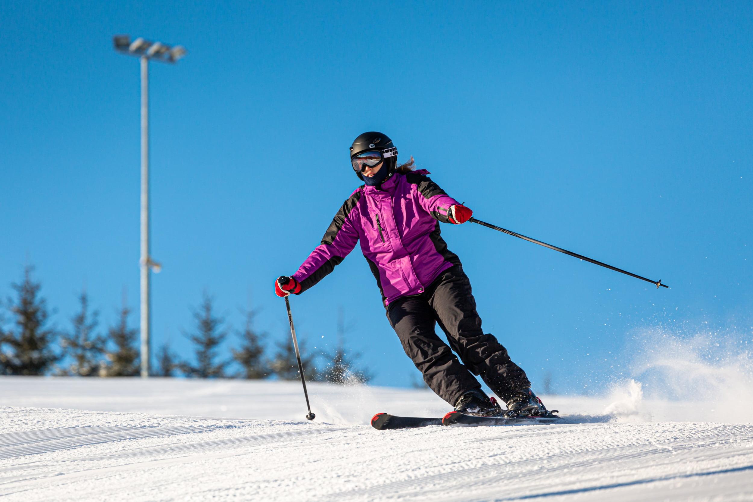 Jazda na nartach pozycja